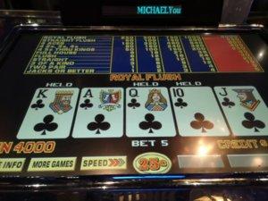 Video Poker - First royal | Vegas Message Board